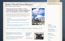 Bahai International News